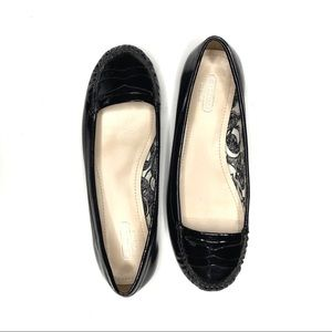 Coach Black Patent Leather Gretchen Flat Loafer